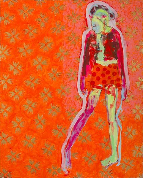 Krass  2007, Acryl auf Leinwand,100 x 80 cm