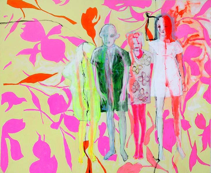 Zweitausendelf, 2007, Acryl auf Leinwand, 125 x 150 cm