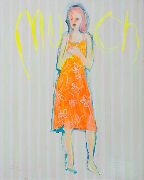 Fuer Munch  2009, Acryl auf Leinwand, 100 x 80 cm