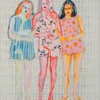 Triptychon 2010, Acryl auf Leinwand, 200 x 150 cm