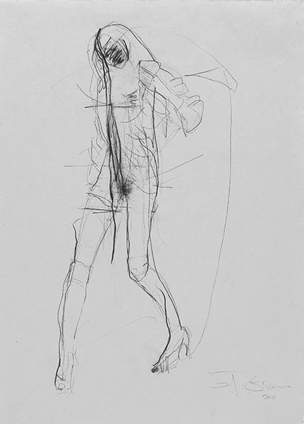 o.T.  2010, Bleistift auf Buetten, 42 x 30 cm