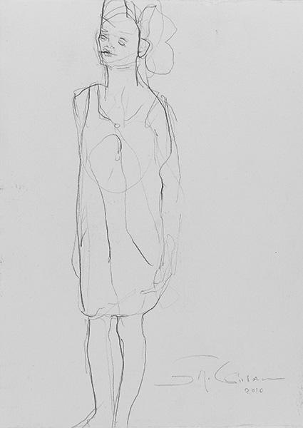 o.T.  2010, Bleistift auf Buetten, 32 x 23 cm