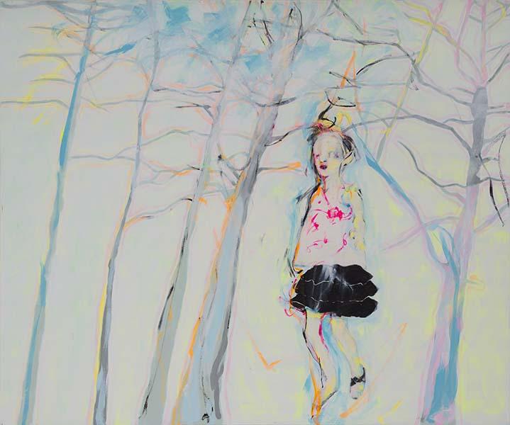 Das Kind im Walde  2011, Acryl auf Leinwand, 125 x 150 cm