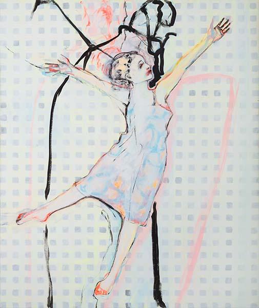 Ein Abend im Juni  2011, Acryl auf Leinwand, 150 x 125 cm