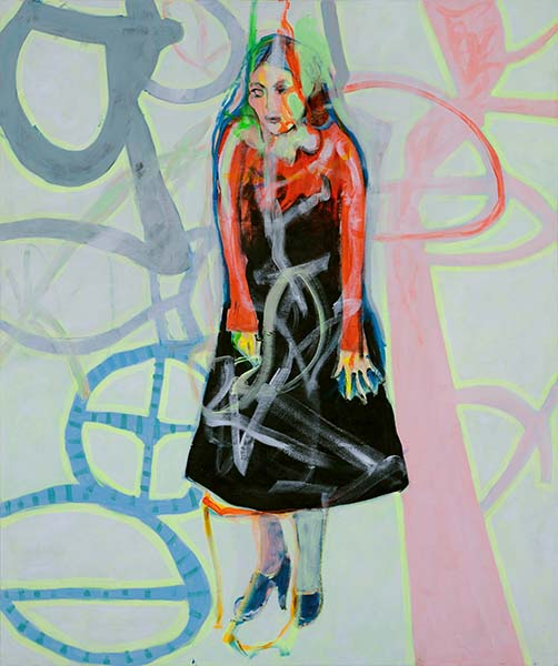 Surrealromantisch, 2011, Acryl auf Leinwand, 150 x 125 cm