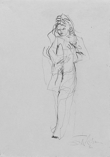 o. T.  2011, Bleistift auf Buetten, 42 x 30 cm
