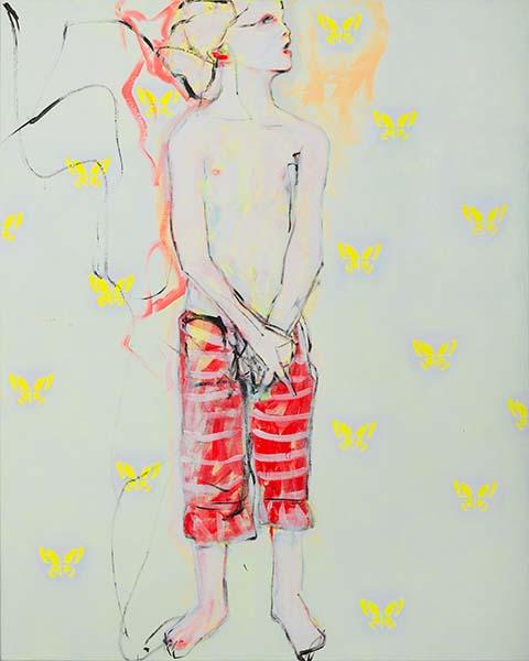 Die Hoffnung, 2012, Acryl auf Leinwand, 100 x 80 cm