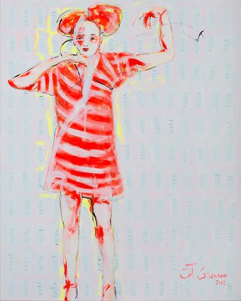 Karneval, 2012, Acryl auf Leinwand, 100 x 80 cm