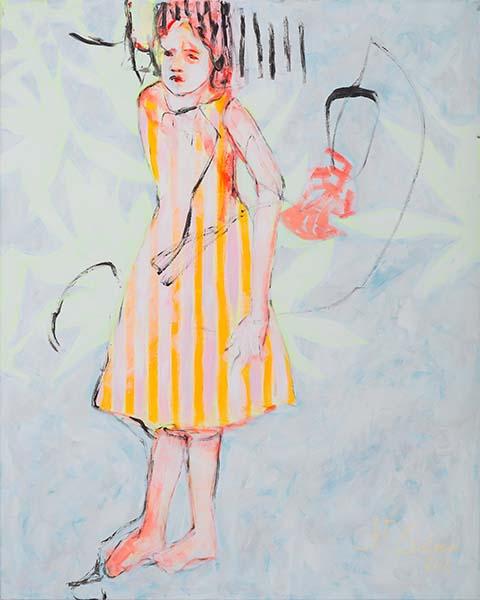 Kristofers Tochter  2012, Acryl auf Leinwand, 100 x 80 cm
