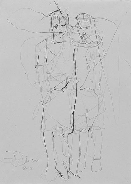 o.T.  2012, Bleistift auf Buetten, 42 x 30 cm
